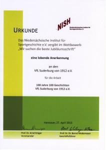 Urkunde Festschrift