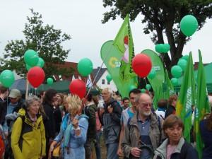 """BI Gerdau bei der Demo """"Wir habenes satt!"""" in Wietze"""