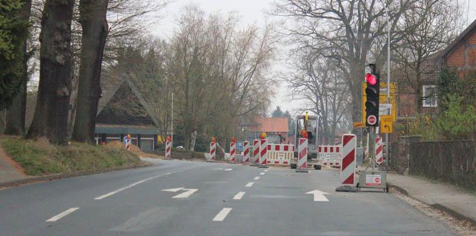 Baustelle Ortsdurchfahrt Suderburg: Stand Anfang April