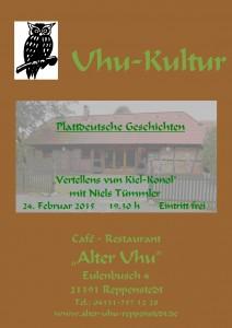 PlakatAlterUhuPlattdeutscherAbendNielsTümmler