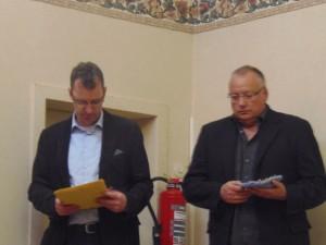 Michael und Hartmut - bereit zur Ehrung der Mitglieder!