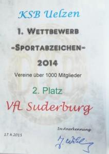 VfL-Urkunde SportabzeichenA