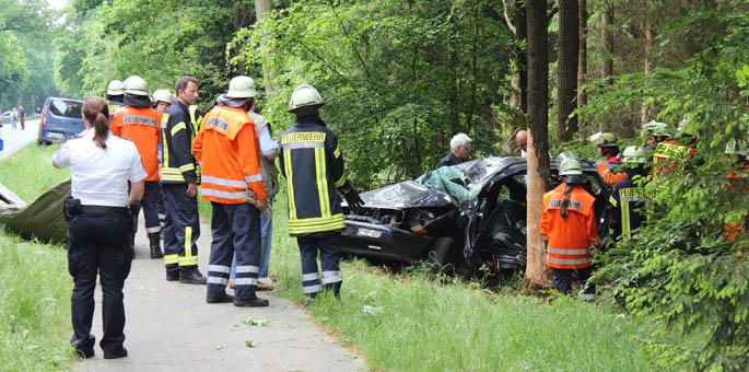 Verkehrsunfall auf der B4