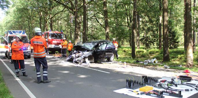 Tödlicher Verkehrsunfall bei Breitenhees