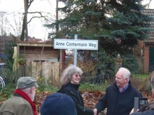 Der Radweg heißt Anne-Contermann-Weg