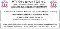 Mitgliederversammlung MTV Gerdau