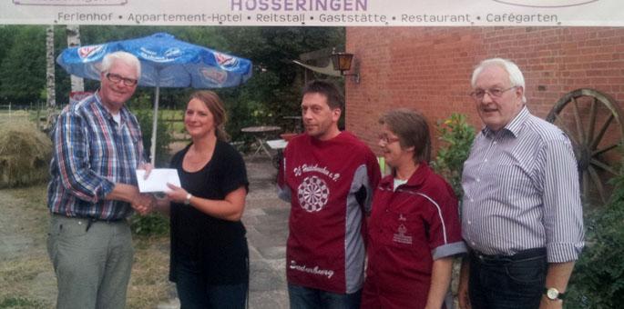 Spende für den Spielplatz in Hösseringen