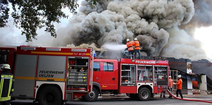 Großbrand in Klein Süstedt