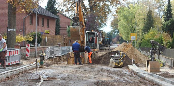 Baustelle vor den Asphaltierungsarbeiten