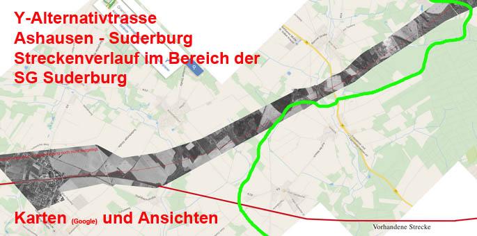 Streckenverlauf Ashausen-Suderburg (Karten)