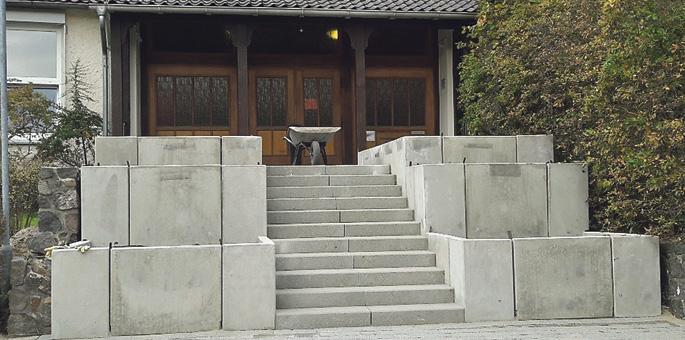 Eine Treppe wie ein Bollwerk...