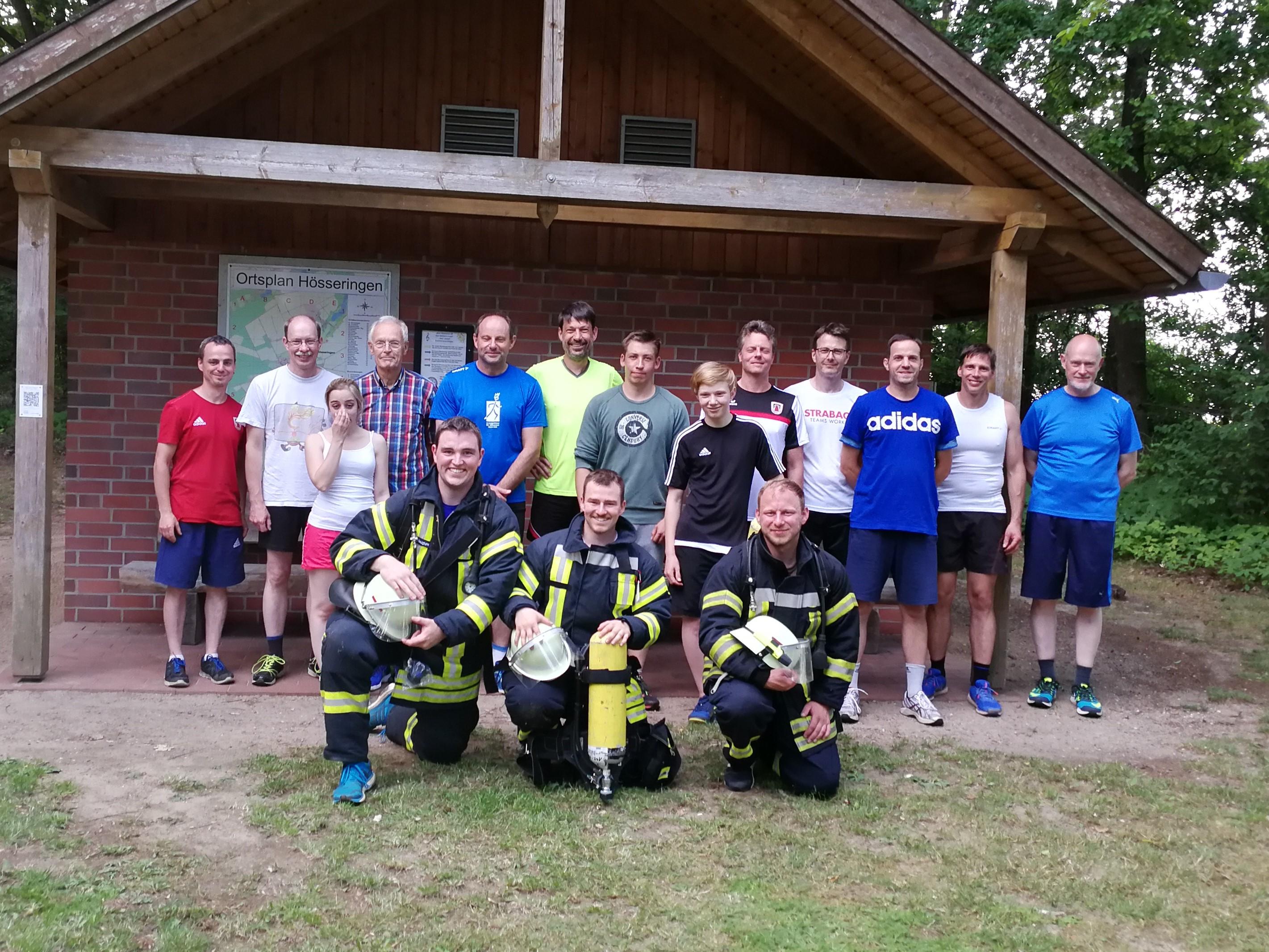 Aktive beim 14. Turmlauf des VfL Suderburg 2019